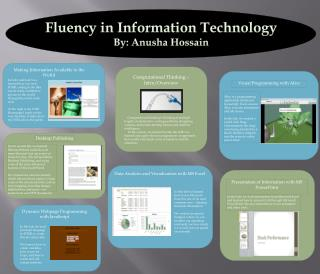 Fluency in Information Technology By:  Anusha Hossain