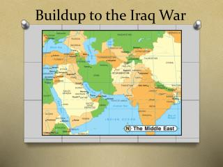 Buildup to the Iraq War