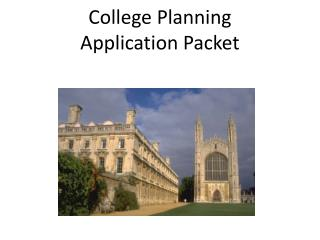 College Planning  Application Packet