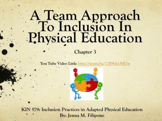 KIN 579: Inclusion Practices in Adapted Physical Education By: Jenna M.  Filipone