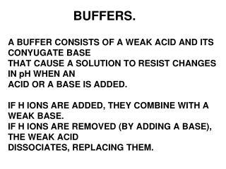 BUFFERS.