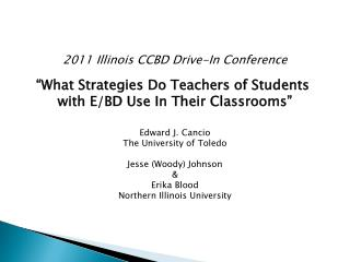 2011 Illinois CCBD Drive-In Conference