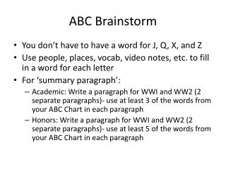 ABC Brainstorm