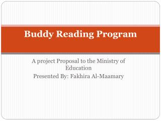 Buddy Reading Program