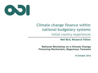 C limate change finance within national budgetary systems