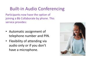 Built-in Audio  Conferencing