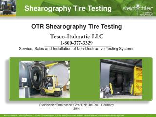 Shearography Tire Testing