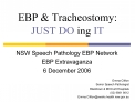 EBP  Tracheostomy:  JUST DO ing IT