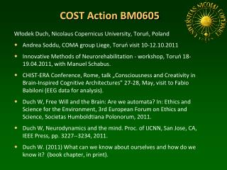 COST Action BM0605