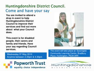 Huntingdonshire District Council. Come and have your say