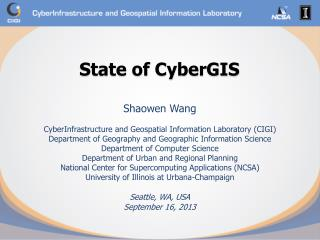 State of CyberGIS