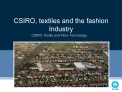CSIRO, textiles and the fashion Industry