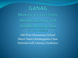 GANAG Making Connections Knuffle  Bunny  and  Knuffle  Bunny, Too by Mo  Willems