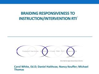 Braiding Responsiveness to Instruction/Intervention  RtI