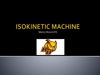 ISOKINETIC MACHINE