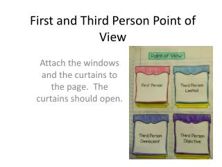 First and Third Person Point of View
