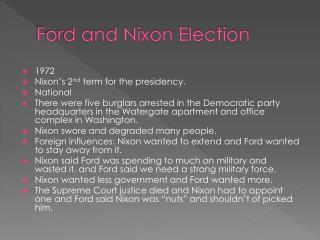 Ford and Nixon Election