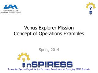 Venus Explorer  Mission Concept of Operations Examples