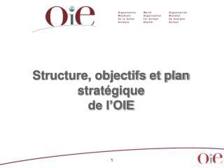 Structure, objectifs et plan stratégique de l'OIE