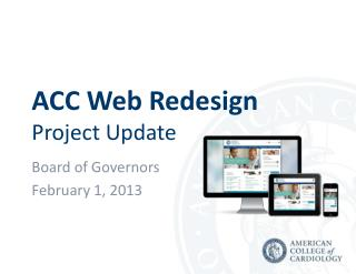 ACC Web Redesign Project Update
