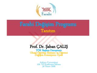 Farabi De?i?im Program? Tan?t?m
