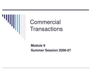Commercial Transactions