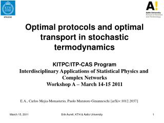 Optimal protocols and optimal transport in stochastic  termodynamics