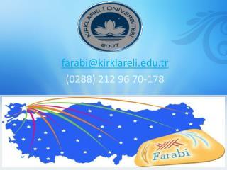 farabi@kirklareli.tr (0288) 212 96 70-178