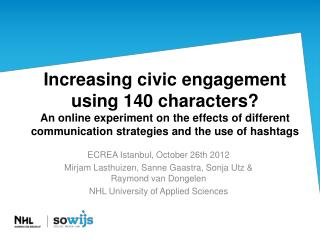 ECREA  Istanbul ,  October  26th 2012