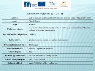 Identifikátor materiálu: EU –  14  - 31