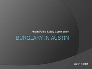 Burglary in Austin