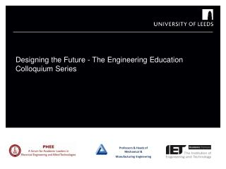 Professors & Heads of Mechanical & Manufacturing Engineering