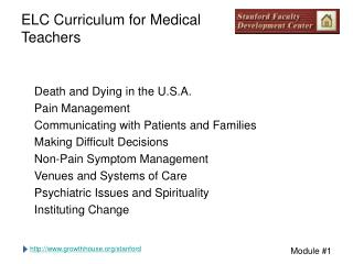 ELC Curriculum for Medical Teachers