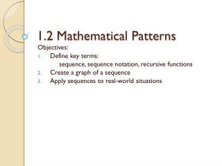 1.2 Mathematical Patterns