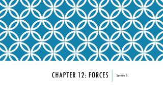 Chapter 12: Forces