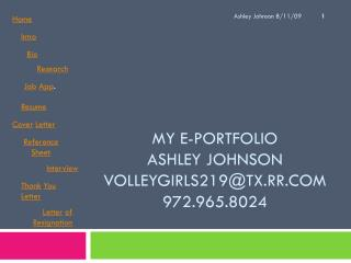 My E-Portfolio Ashley Johnson volleygirls219@tx.rr 972.965.8024