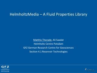 HelmholtzMedia  – A Fluid Properties Library