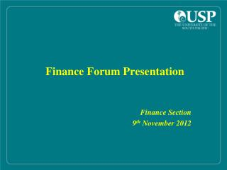 Finance Forum Presentation
