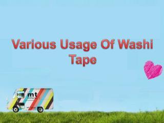 Various usage of washi tape