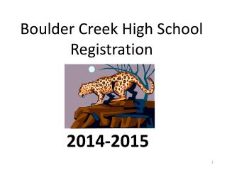 Boulder Creek High School Registration