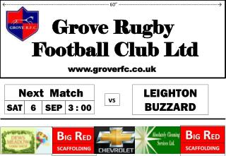 Grove Rugby   Football Club Ltd