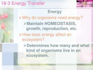 18-3 Energy Transfer