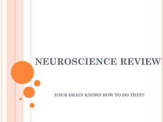 NEUROSCIENCE REVIEW