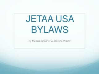 JETAA USA BYLAWS