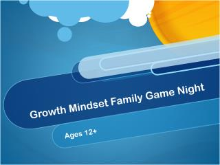 Growth Mindset Family Game Night