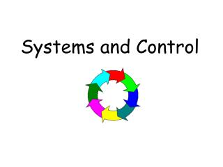 Systems and Control