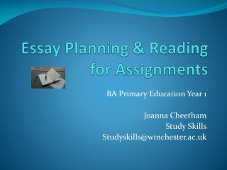 Essay Planning & Reading for Assignments