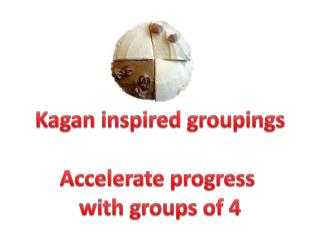 Kagan  inspired groupings Accelerate progress  with groups of 4