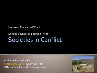 Societies in Conflict