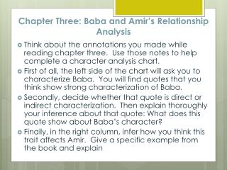 Chapter Three: Baba and Amir's Relationship Analysis